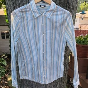 J.Crew crinkle long sleeve shirt